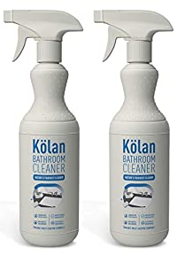 Kolan Organic Eco-Friendly Bathroom Cleaner 700 ML (Suitable for all Surfaces Including Marble, Granite, Wood, Tiles, Stainless Steel and Glass) - 2 Packs Combo