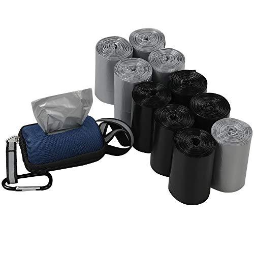 Ikando sacchetto sacchettini sacchetti per escrementi di cani e gatti gatto pupu sacchetti bisogni con dispenser, 350 conteggi/10 rotoli