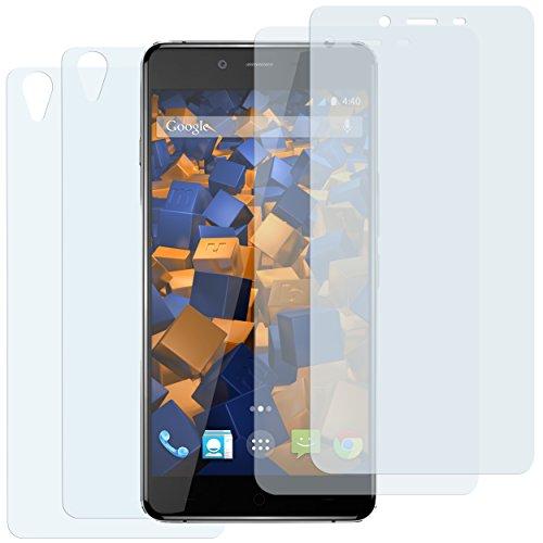 mumbi Schutzfolie kompatibel mit OnePlus X Folie klar, Displayschutzfolie (4x)