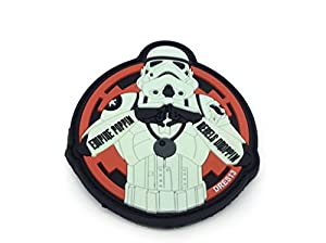Empire Poppin Rebels Droppin Stormtrooper Rouge Brillent Dans Le Noir PVC Patch