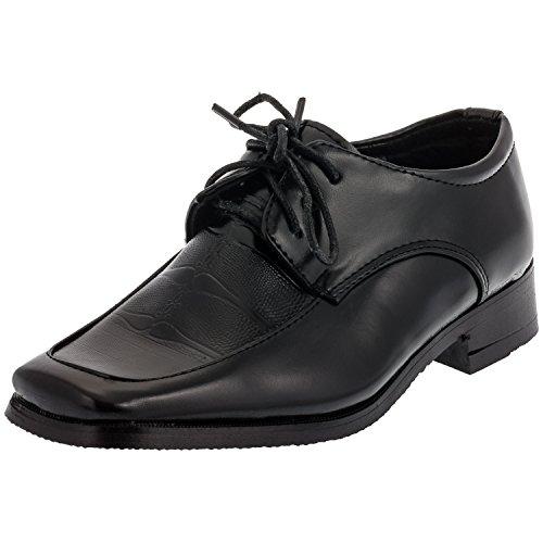Chaussures à lacets pour garçon noir ou blanc (#629 Schwarz)