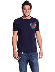 Desigual Jorge - T-shirt - Empire - Imprimé - Col ras du cou - Manches courtes - Homme