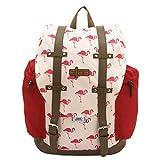 Friedrich|23 Rucksack, F23, Flamingo, Polyester, beige/Koralle Rucksack, 42 cm, 22.0 Liter, Beige/Koralle