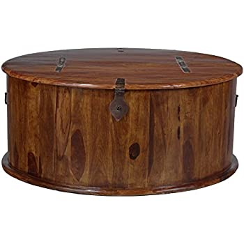 Jali Round Trunk Coffee Table Amazoncouk Kitchen Home