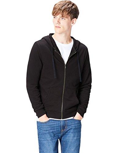 find. Hoodie Herren, Schwarz (Black), 50 (Herstellergröße: Medium) 50-fleece-zip-hoodies