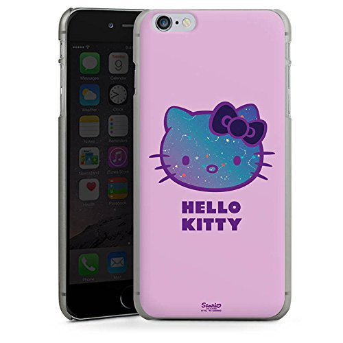 Apple iPhone X Silikon Hülle Case Schutzhülle Hello Kitty Merchandise Fanartikel Universe Hard Case anthrazit-klar