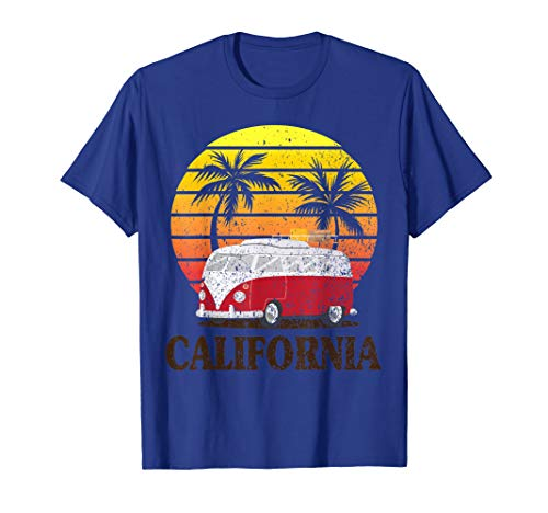 California Vintage Vintage T-shirt (California Van Surf T-Shirt Vintage Surfer Retro Distressed T-Shirt)
