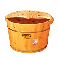 nihiug Foot Bath Wooden Barrel With Lid Wooden Foot Tub Foot Bath Barrel Foot Bath Barrel Foot Bath Basin Footbath Tub Health Care,A-OneSize