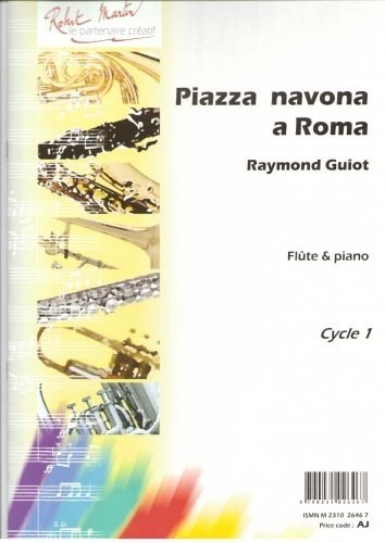 partitions-classique-robert-martin-guiot-piazza-navona-a-roma-flute-traversiere
