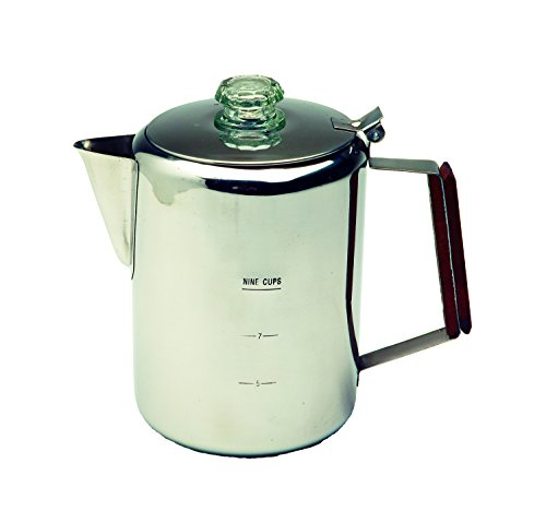 Texsport Stainless Steel 9 Cup Percolator 41wN3AKFCpL