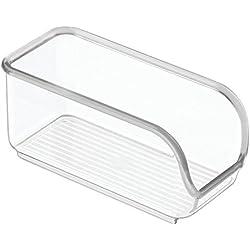 InterDesign Linus Contenitore per bustine zucchero | Contenitore cucina e sala da pranzo | Organizer cucina con funzionale apertura laterale | Plastica trasparente