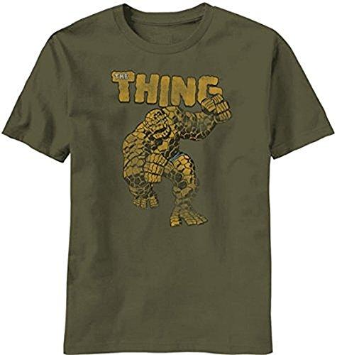 Fantastic Four The Thing Rock Monster Erwachsene Military grün T-shirt (Medium) (Grün Erwachsene T-shirt Military)