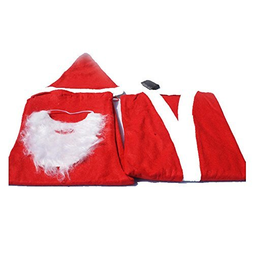RotSale® 5-teilig Nikolaus Anzug für Mann Kostüm Weihnachten Suite Nikolauskostüm Weihnachtsmannkostüm
