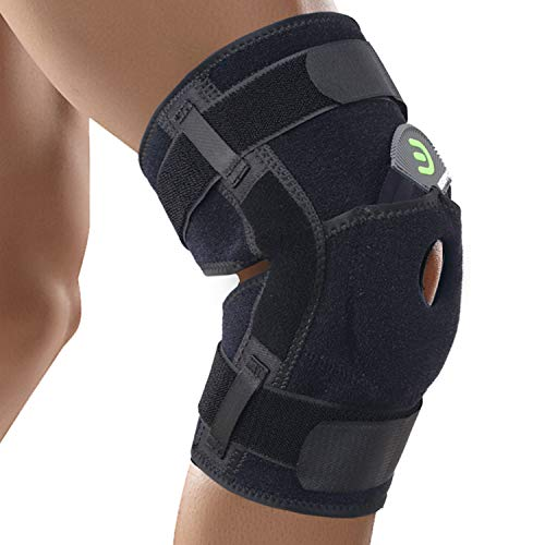 30d7eb69bf DISUPPO Hinged Knee Brace Support with Frosted Surface, Adjustable Open  Patella Stabilizer for Sports Trauma