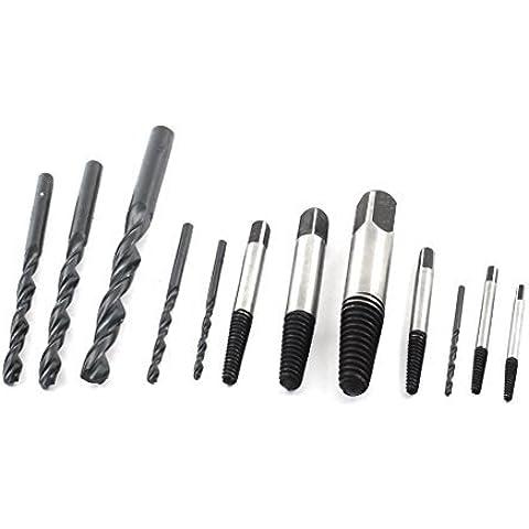 12 en 1 de 3 mm a 10 mm de punta Recta caña de la mano Tap Fresa espiral Bit Set