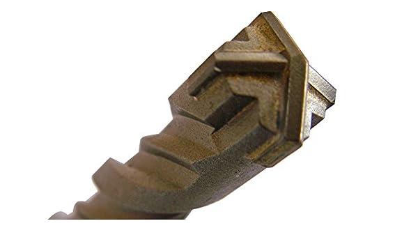 13mm SDS-Plus Quadro X Betonbohrer//Steinbohrer//Hammerbohrer 4-Schneiden 13x160mm