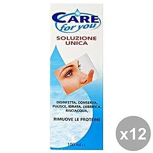 Set 12 CARE FOR YOU Soluzione Unica Lenti A Contatto 100 Ml. Desinfektionsmitteln