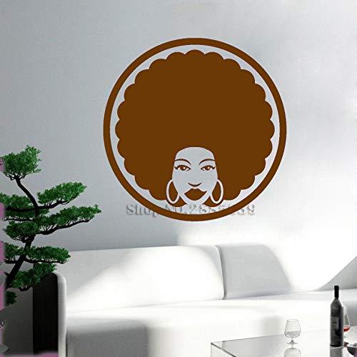 zqyjhkou Afro Black Lady Hair Beauty Salon Wandaufkleber Frisur Friseur Vinyl Wandtattoo Wohnkultur Abnehmbare Tapeten 6 S 40 cm x 40 cm -