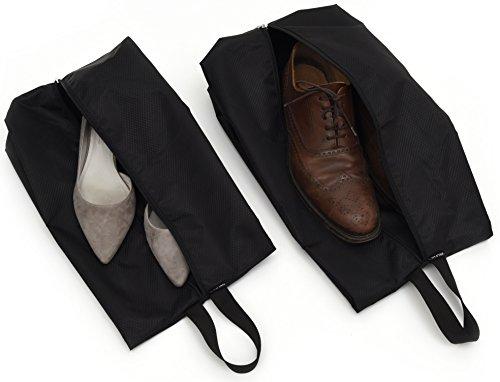 2er Set Premium Schuhtasche – Zwei versch. Größen – hochwertige Schuhtaschen/Schuhbeutel aus wasserabweisendem Material – für alle Schuhgrößen – Schuhsack/Tasche für Sport und Reisen