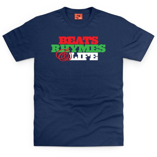 Beats & Rhymes T-Shirt, Herren, Dunkelblau, M (Crew Quest Shirt)