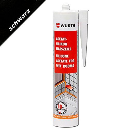 wurth-acetate-wetroom-silicone-black-310ml-cartridge