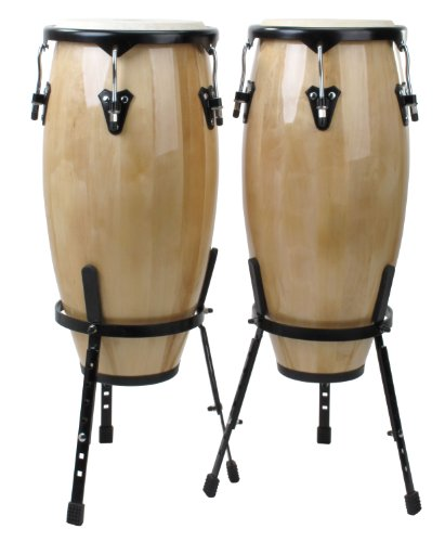 CONGAS DE XDRUM  SET DE 2 CAJAS NATURAL 10   11