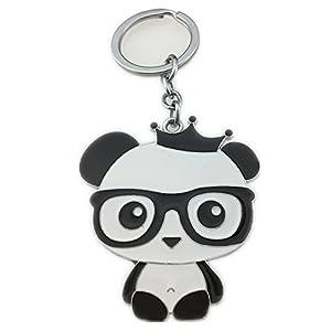 Letshopping® Panda Hometown Cute Panda Keychain (Black-Glasses-Panda) by Letshopping