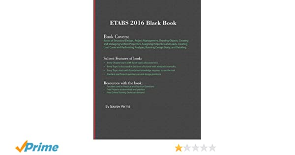 Buy Etabs 2016 Black Book Book Online at Low Prices in India | Etabs