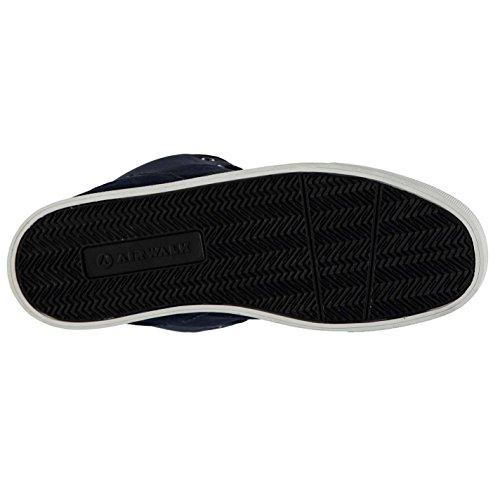 Airwalk Breaker Mid Skate Homme Chaussures Baskets À Lacets Sneakers Sport Bleu