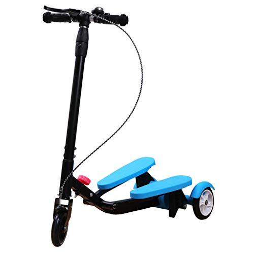 HYE-ROLLER Scooter Kids Pedaling Stepper Scooter Faltbare 3 höhenverstellbar Bike Boys und Mädchen im Alter von 3-15 - Durch bewegliches im Freien Spielzeug - Bis zu 220 Pfund
