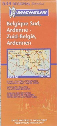 Carte REGIONAL Belgique Sud, Ardenne / Zuid-Belgie, Ardennen par Collectif Michelin
