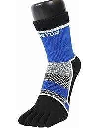 TOETOEchaussettes a doigt de cyclisme , hauteur cheville , noires, grises et bleues