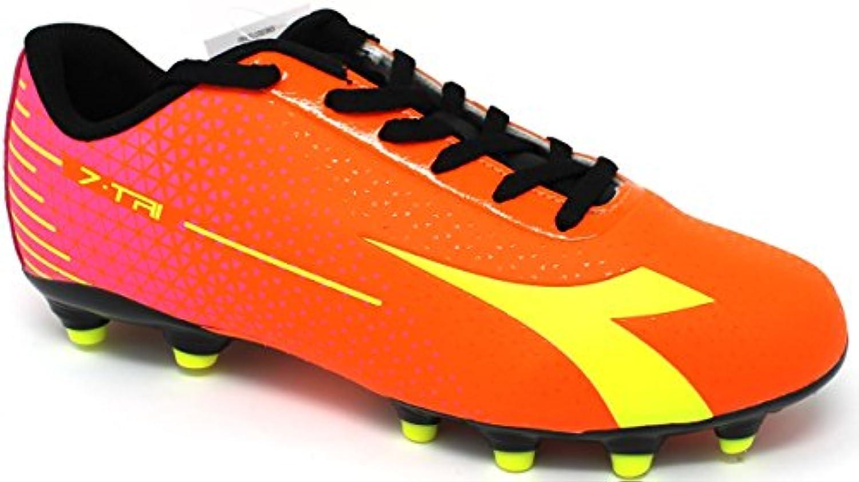 Diadora Fußballschuhe Herren  7 tri MG14  172390 c7090  Rot fluo/gelb fluo 46