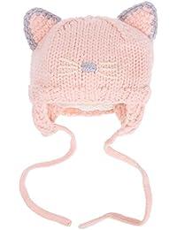 Domybest Cappello Infantile Invernale a Forma di Gatto Cappello a Maglia per  Neonati  2 Colori 43909d652d46