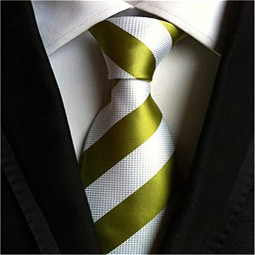 CityRaider Herren Krawatte mit Streifen, gewebt, schmal - Grün - Standardgröße - Streifen Krawatte