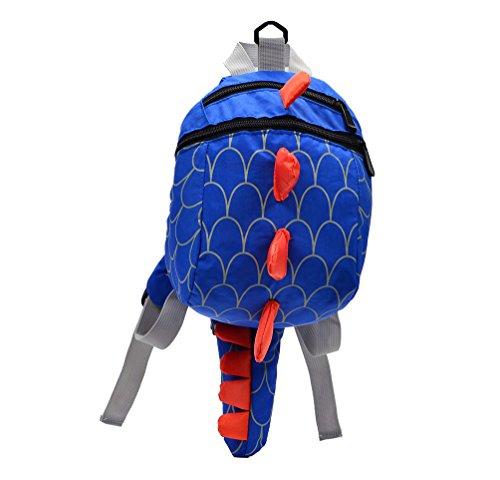 ailishabroy Jungen Mädchen Dinosaurier Rucksack mit Zügel Kinder Spielzeug Sicherheit Anti-verloren Strap Kleinkind Gepäck für Kinder (Blau) (Rucksack Mit Lunch Box)