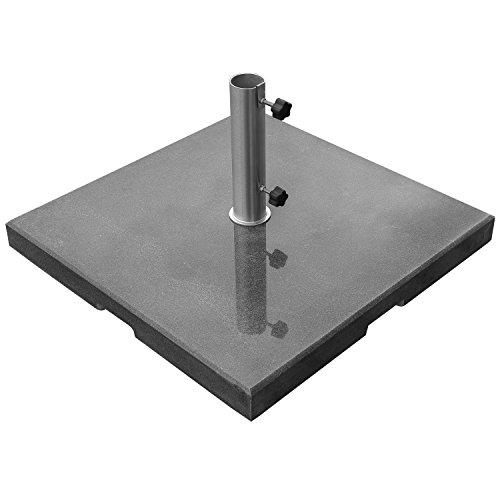 DELSCHEN Schirmständer Sonnenschirmständer Ständer eckig Granit 90 kg - ø 61 mm Schwarz