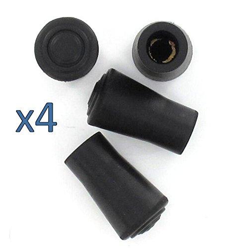Lifeswonderful Leki Style Rubber Ferrule for Trekking or Hiking Stick 4-Pieces, 12 mm Diameter, Black,...