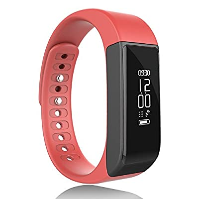 Smart Bracelet, JoyGEEK Fitness Activity Waterproof Smart Wristband with OLED Touch Screen, Bluetooth 4.0 Pedometer, Wristband, Sleep Monitor, Call/MSM Reminder for iOS iPhone, Android Samsung Huawei Sony HTC by JoyGeek