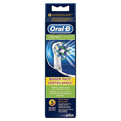 Braun Oral-B CrossAction Aufsteckbürsten, 5 Stück -