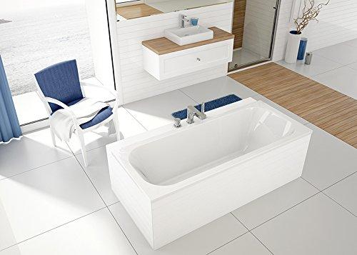 EXCLUSIVE LINE® Rechteck Badewanne Wanne Acryl SANPLAST 75x180 cm Wannenträger Ablauf Silikon TOP!