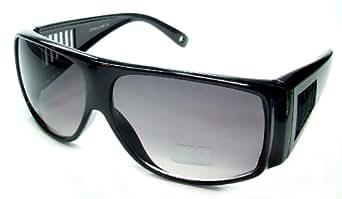 New WEAR OVER Sunglasses Sit Over Prescription Glasses UV400 Protection Adult Size (black frame grey lens)