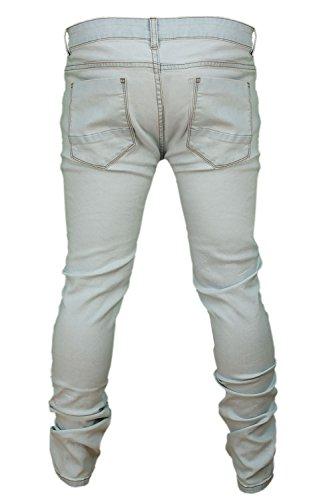 Soulstar Deo jeans uomo multi elasticizzato aderente strappato slim fit Slavati Candegginati