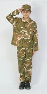 Humatt Perkins - Disfraz de soldado del ejército militar infantil, talla M (51611)