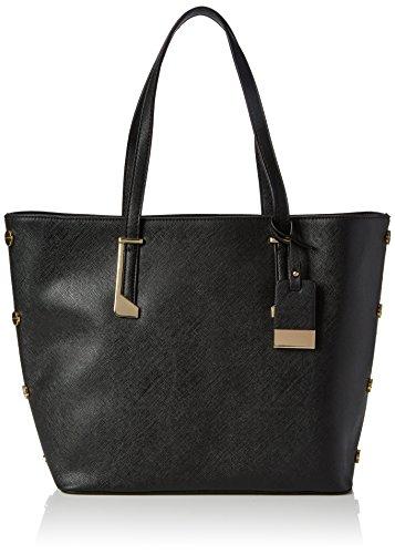 Miss Selfridge Damen Stud Tote, Schwarz (Black), 28x14x44 cm (Stud Shopper)