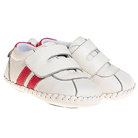 Little Blue Lamb chaussures de bébé Chaussures premiers pas Espadrilles blanc - blanc, 12-18 mois