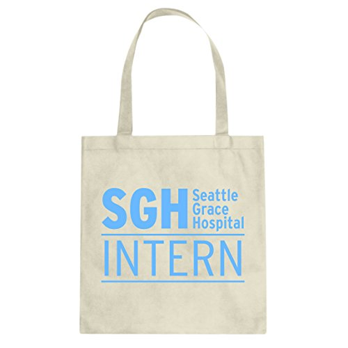 n Seattle Grace Hospital Canvas Tote Bag, Weiß, 3312-B-NT-L ()