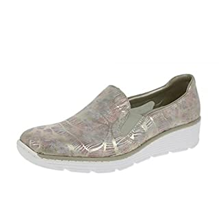 Rieker Jinx Womens Casual Slip On Shoes 6/39 Pink Multi