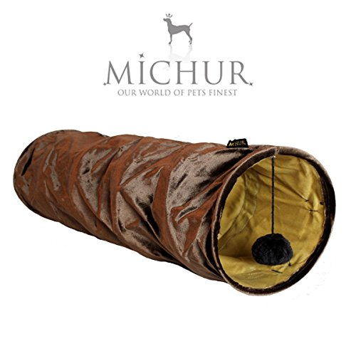 michur-maggi-brown-cat-dog-tunnel-dog-cat-cave-soft-cave-brown-german-brandname-quality