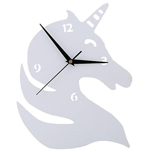 Hippocampe Horloge murale Chambre d'enfant Chambre Horloge silencieuse Belle famille Décoration Boutique